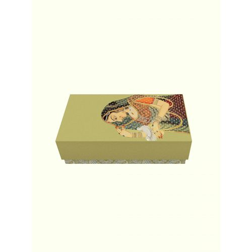 Lady with Messenger Pigeon Painting Inspired Box