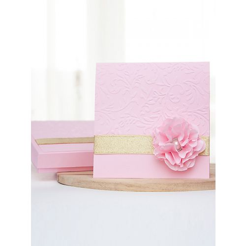 Beautiful gold and pink invitations perfect for pink and gold themed wedding