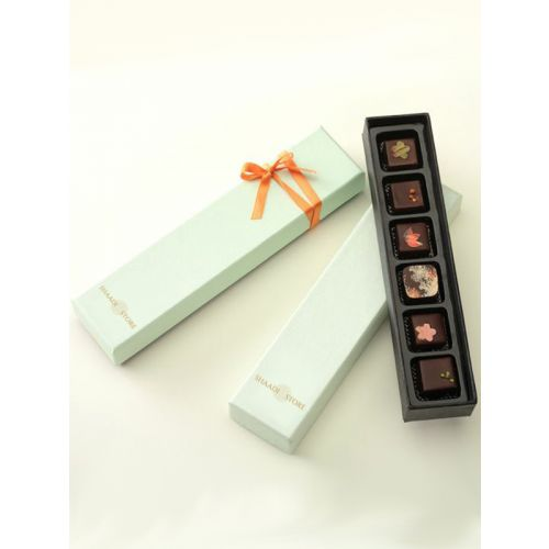 Mint green chocolate packaging box