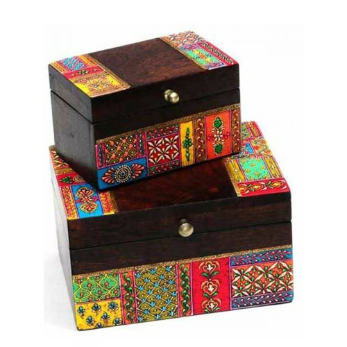 Handcrafted ethnic wooden box
