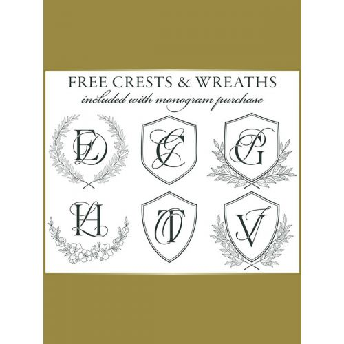 Crests and wreaths included with Monogram