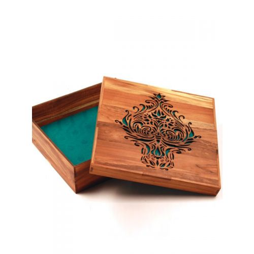 Laser engraved solid wood invire box 2