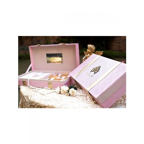Pink Luxury Invite Box with a golden print