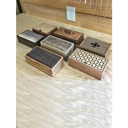 Wooden boxes for luxury invites and wedding favors